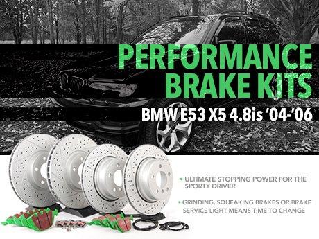 ECS News - BMW E53 X5 4 8is Performance Brake Kits