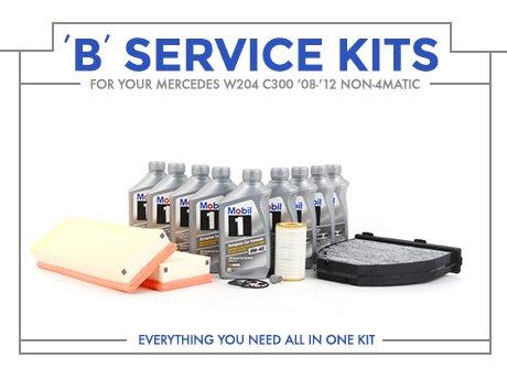 Ecs news mercedes benz w204 c300 non 4matic 39 b 39 service kits for Mercedes benz c300 service b