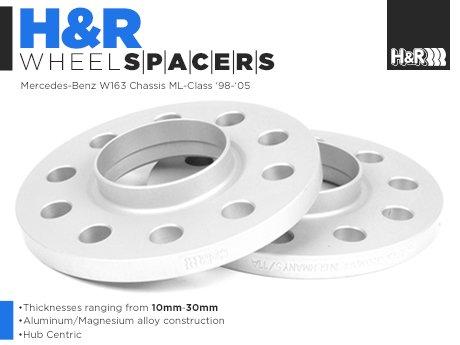 Ecs news mercedes benz w163 ml cl class h r wheel spacers for Wheel spacers for mercedes benz