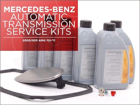 Ecs news mercedes benz w463 g class auto trans service kits for Mercedes benz service g
