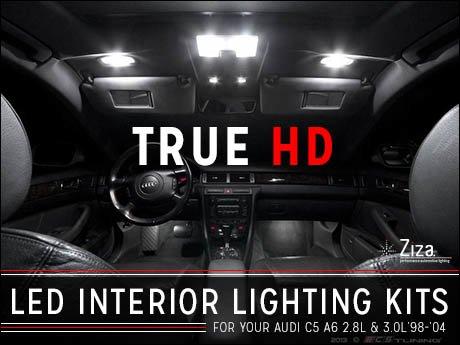Ecs News Audi C5 A6 2 8l 3 0l Ziza Interior Led Lighting Kits