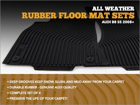 Ecs News Audi B8 S5 All Weather Floor Mats