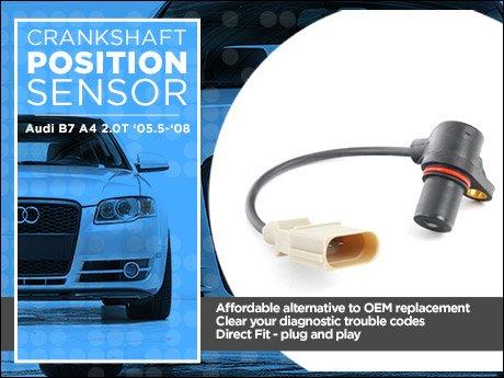 ECS News - Audi B7 A4 2 0T Crankshaft Position Sensor