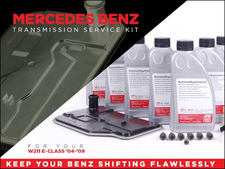 ecs news mercedes benz w211 automatic transmission service kits. Black Bedroom Furniture Sets. Home Design Ideas