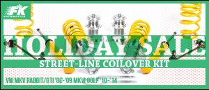 VW MKV/MKVI Golf FK Street-Line Coilover Kit