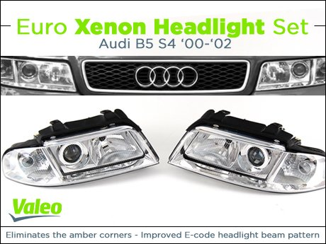 ECS News - Audi B5 S4 Valeo Euro Xenon Headlight Set