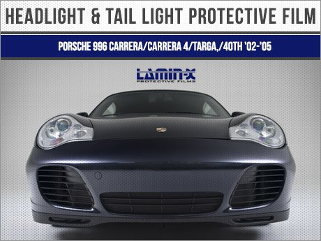ECS News , Porsche 996 Carrera Lamin,X Headlight/Tail Light Film
