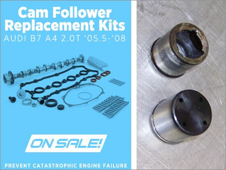 ecs news audi b7 a4 2 0t cam follower replacement kit rh ecstuning com Cam and Follower Pull Toy Cam and Follower Toy Examples