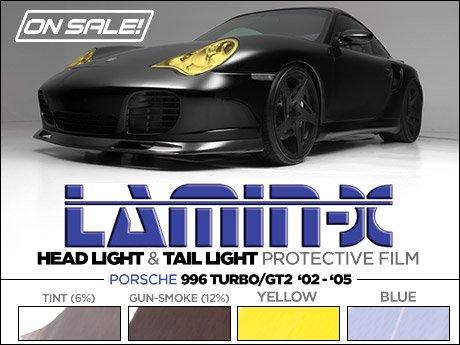 ECS News , Porsche 996 Turbo Lamin,X Headlight/Tail Light Film