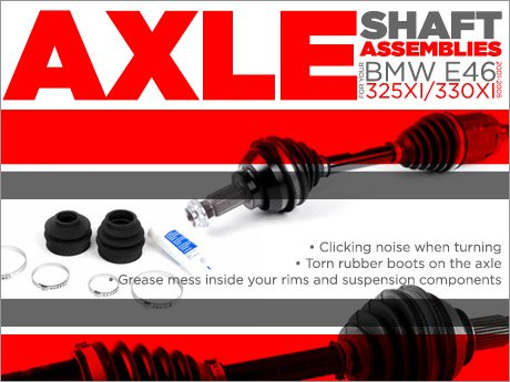 ECS News - BMW E46 325xi/330xi Axle Shafts Replacements