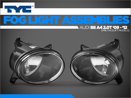 Ecs News Audi B8 A4 Tyc Fog Light Housings