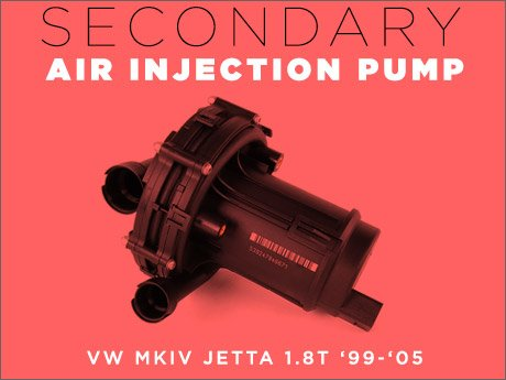 ECS News - VW MKIV Jetta 1.8T Secondary Air Injection Pump