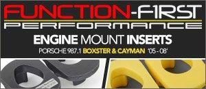 Porsche 987 Function-First Engine Mount Inserts