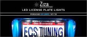 Porsche 997 Turbo Ziza LED License Plate Kit