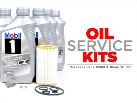 Ecs news mercedes benz w203 c class oil service kits for Mercedes benz recommended oil