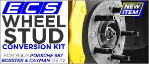 Porsche 987 Boxster/Cayman ECS Wheel Stud Conversions
