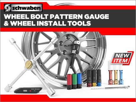 ECS News Schwaben Wheel Bolt Pattern Gauge Amp Installation Tools Custom Wheel Bolt Pattern Tool