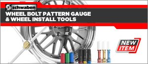 Schwaben Wheel Bolt Pattern Gauge & Installation Tools