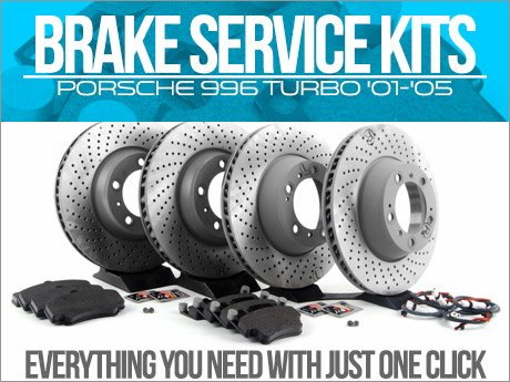 ecs news porsche 996 turbo brake service kits