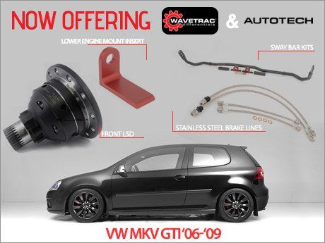 ecs news vw mkv gti wavetrac autotech performance parts. Black Bedroom Furniture Sets. Home Design Ideas
