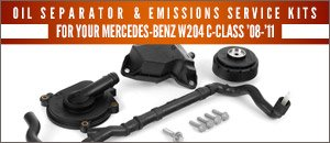 Mercedes-Benz W204 C-Class Emissions Service Kits