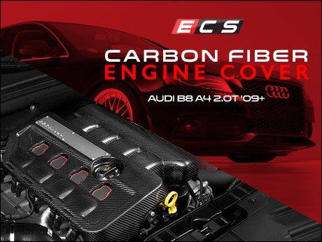 Ecs News Audi B8 A4 20t Ecs Carbon Fiber Engine Cover