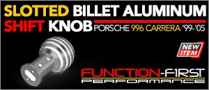 Porsche 996 Function-First Slotted Shift Knob