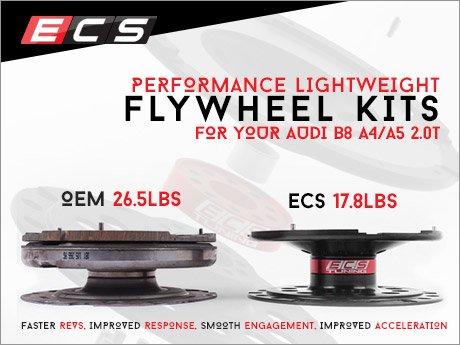 ECS News - Audi B8 A4/A5 2 0T ECS Tuning Lightweight Flywheel Kits