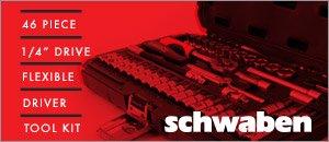 "Schwaben 46 Piece 1/4"" Drive Set"
