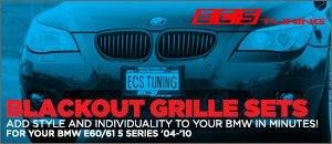 ECS Blackout Kidney Grilles for your BMW E60 5 Series