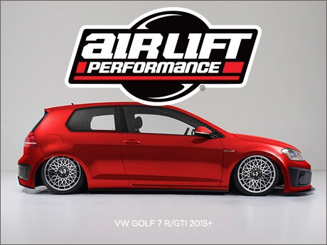 ecs news air lift performance air ride for your vw golf 7. Black Bedroom Furniture Sets. Home Design Ideas