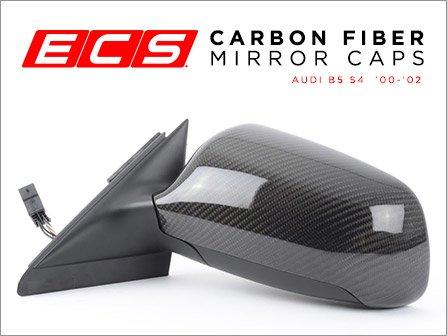 ecs news audi b5 s4 ecs carbon fiber mirror caps. Black Bedroom Furniture Sets. Home Design Ideas