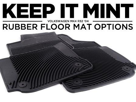 Ecs News Rubber Floor Mat Options For Your Vw Mk4 R32