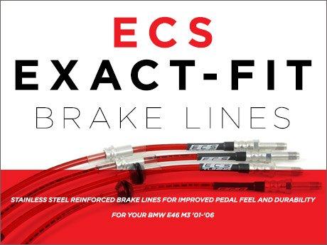 E46 M3 Stainless Steel Complete 4 Brake Line Kit DOT Compliant