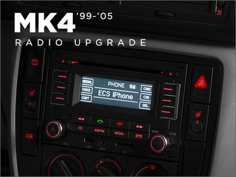 ecs news vw mk4 radio upgrade. Black Bedroom Furniture Sets. Home Design Ideas