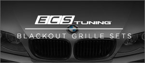 BMW E46 3 Series ECS Blackout Grilles