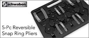Schwaben 5-Piece Reversible Snap Ring Pliers