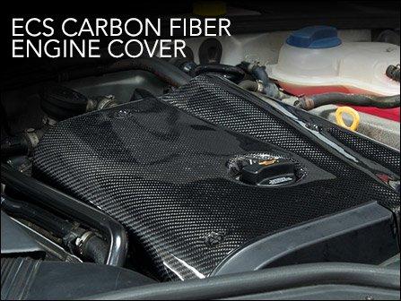 ecs news ecs carbon fiber engine cover audi b5 a4 1 8t. Black Bedroom Furniture Sets. Home Design Ideas