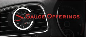 VW MK6 Golf R Gauge Options