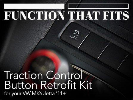 ECS News - Traction Control Button Retrofit Kit   VW MK6 Jetta