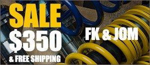 FK & JOM VW Coilover Sale - Volkswagen
