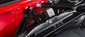 New ECS Billet Aluminum Front Strut Brace | Audi B9 A4