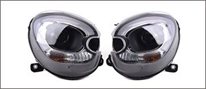 Sonar Black/Chrome DRL Headlights | MINI R60/61