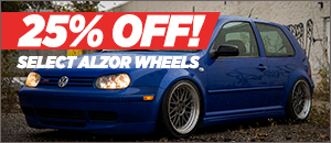 25% Off Select Alzor Wheels for your VW 5x100