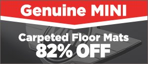Genuine MINI Carpeted Floor Mats 82% off