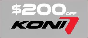 Koni 1150 Series Coilover Kit with Free Install Kit
