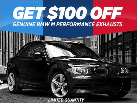 ecs news - $100 off genuine m performance exhaust for your bmw