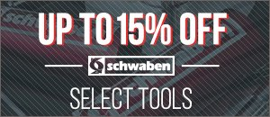 Select Schwaben Tools Up to 15% off now through Friday