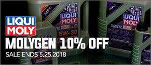 10% Off Liqui-Moly Molygen for your VW/Audi
