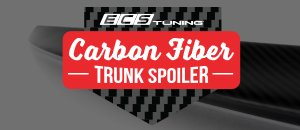 NEW! ECS Tuning Carbon Fiber Trunk Spoiler